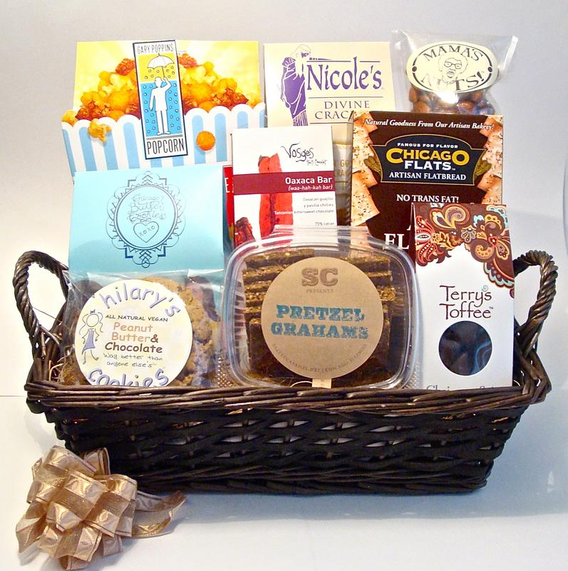 Chicago themed gift baskets for clients events family for Gifts for clients ideas